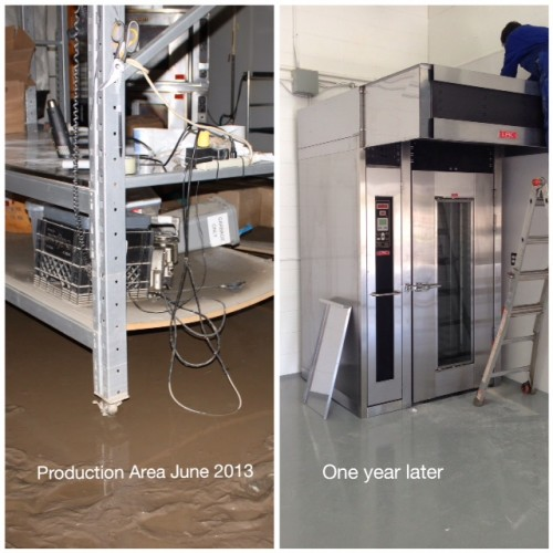 Inside our production facility June 2013 and June 2014 with a new oven